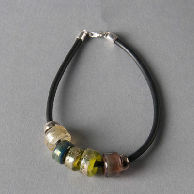 Art Bead Bracelet by Into the Fire Lampwork Art Beads