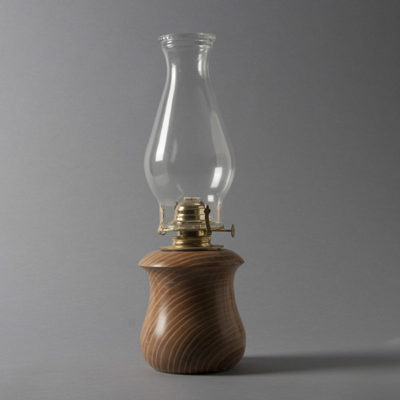Wooden Hurricane Lamp by Robert Fry