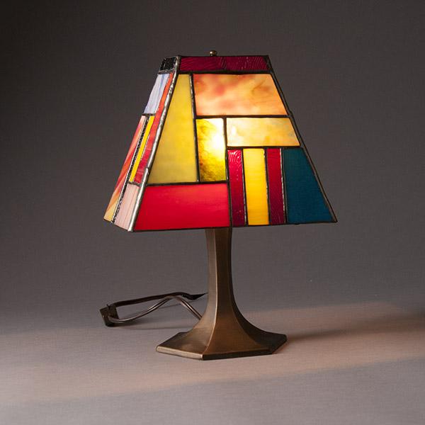Stainglass Mini Lamp By Robert Speer