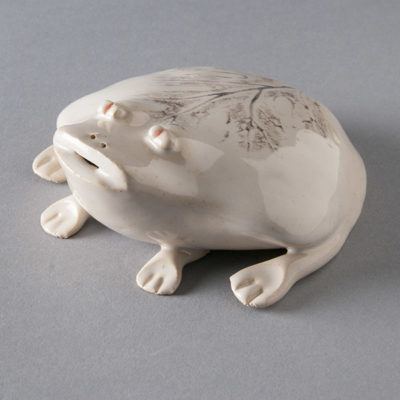 White frog by Carol McDonough (Rutland, OH)