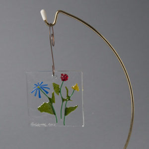 Glass Window or Wall Hanging  by Lawrence and Audrey Goldsmith