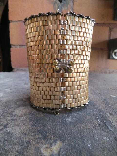 Gold Cuff by Tammy Schweinhagen