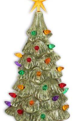 medium lighted tree glazed 11 inches