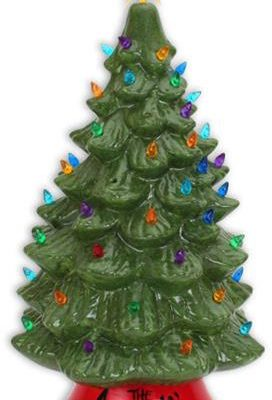 18 inch light up tree glazed