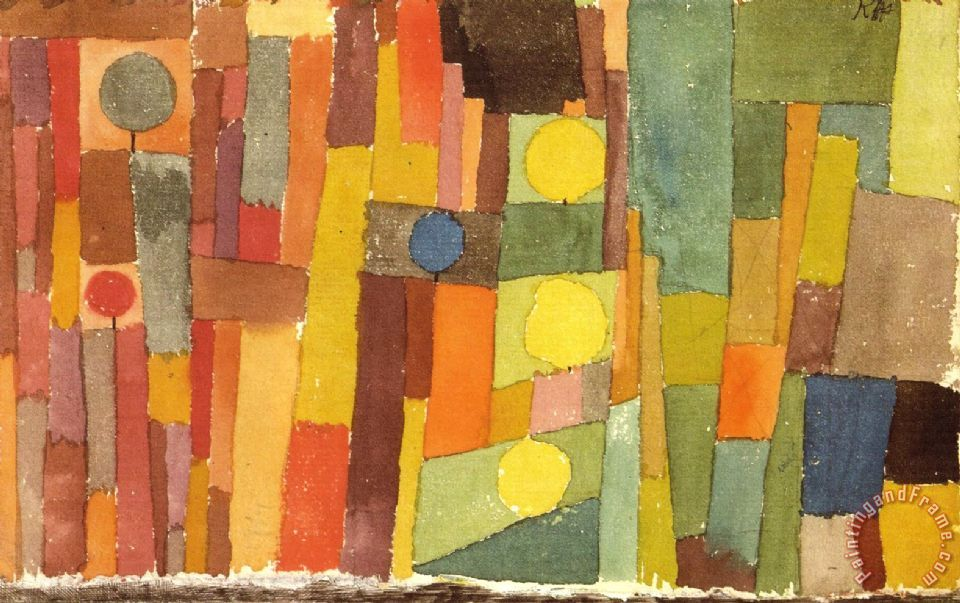 In The Style of Kairouan 1914 Painting by Paul Klee